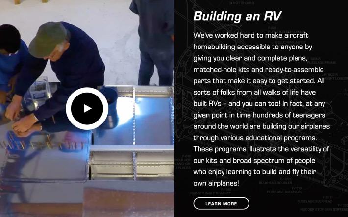 vansaircraft.com screenshot